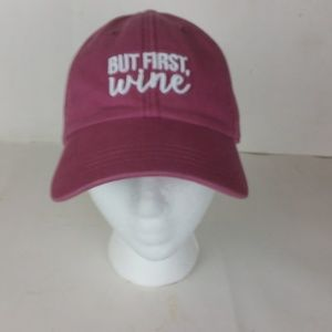 """State of Mine """"But First, WINE"""" Hat NWOT"""